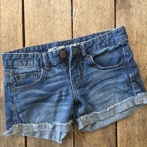 MOSSIMO jean shorts. Size 1